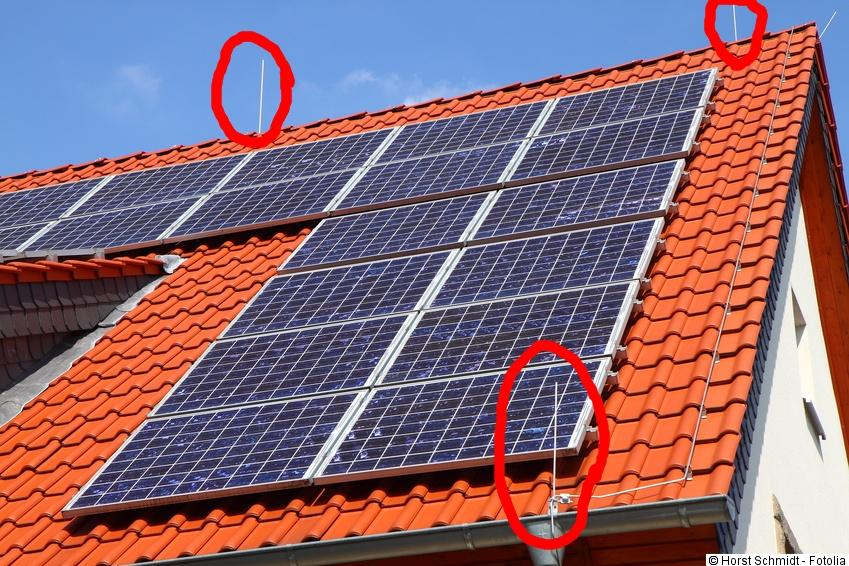 Effektiver Photovoltaik Blitzschutz Erdung