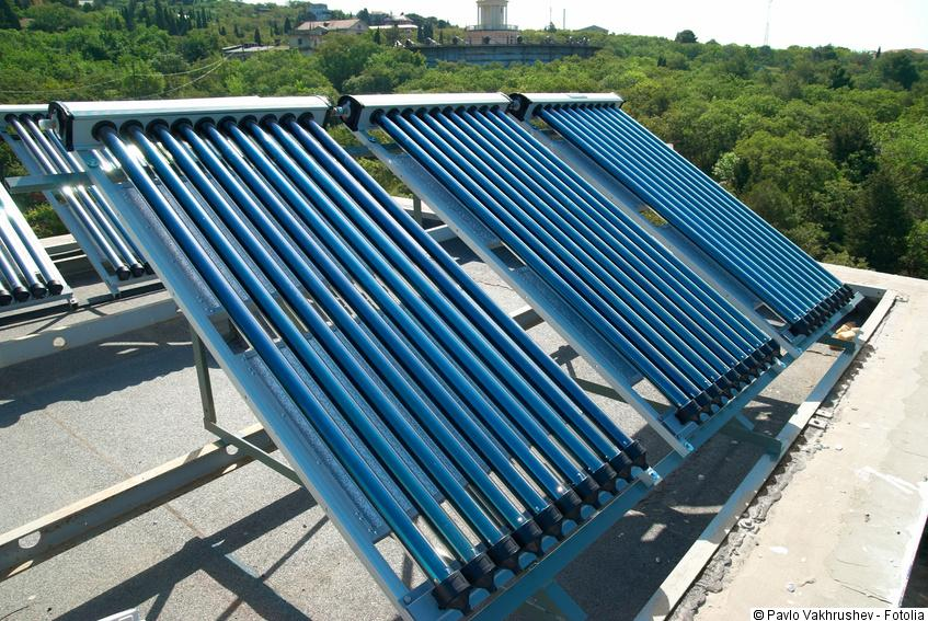 Solarkollektoren flachdach