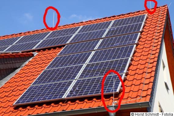 Photovoltaik Blitzableiter