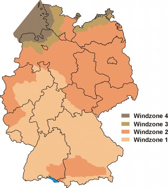 Windzonen Deutschland
