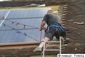 Befestigung der Photovoltaik Module