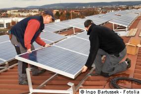Aufständerung der Photovoltaik Module